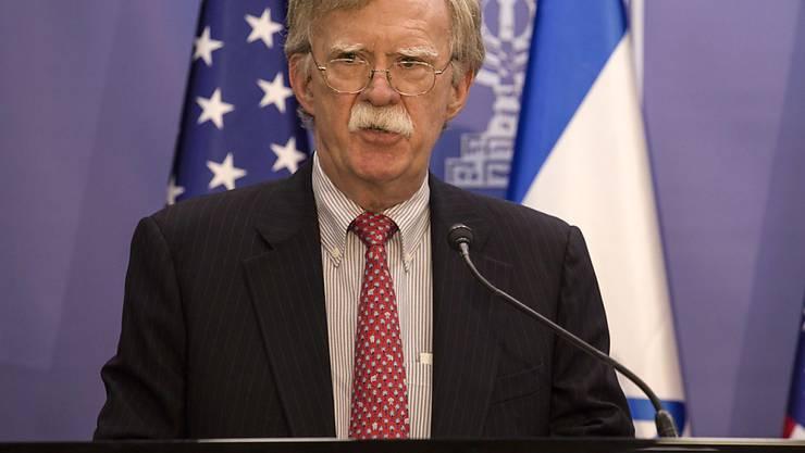US-Sicherheitsberater John Bolton hat eine klare Warnung an Iran ausgesprochen.
