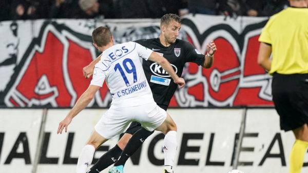 Der FC Aarau meldet sich zurück. Ein Eigentor führt zum Anschlusstreffer. Nur noch 1:3 für die Gäste.
