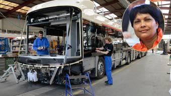 Im Rahmen des Auftrags, den Kantonsrätin von Sury der Carrosserie Hess verschaffte, werden in Indien vor Ort 3000 Elektrobusse montiert.