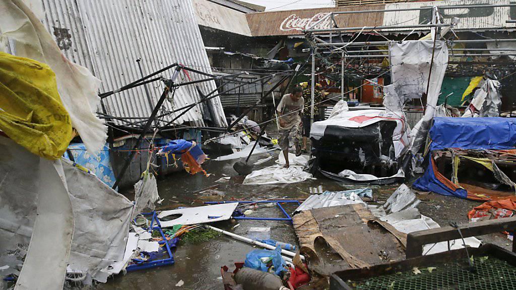 """Ein von Taifun """"Mangkhut"""" zerstörter Markt in der besonders hart getroffenen Stadt Tuguegarao."""