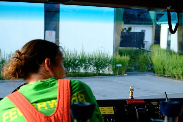 Ein Schutzpatron-Figur darf im Feuerwehrauto nicht fehlen.