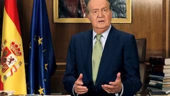 König Juan Carlos bei seiner Ansprache an Heiligabend