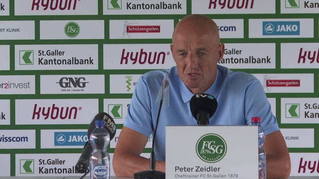 FCSG vs. FC Sion: Peter Zeidler zum Spiel von Morgen