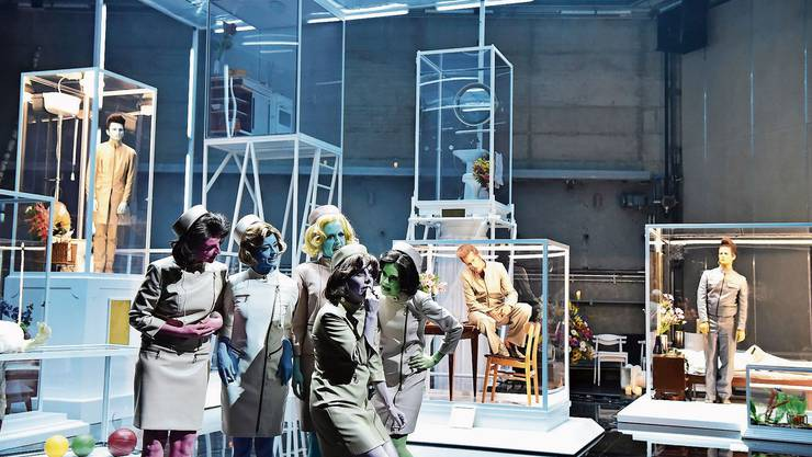 Szene aus «In den Gärten oder Lysistrata Teil 2» am Theater Basel. Am 16. November hat das Stück Premiere.