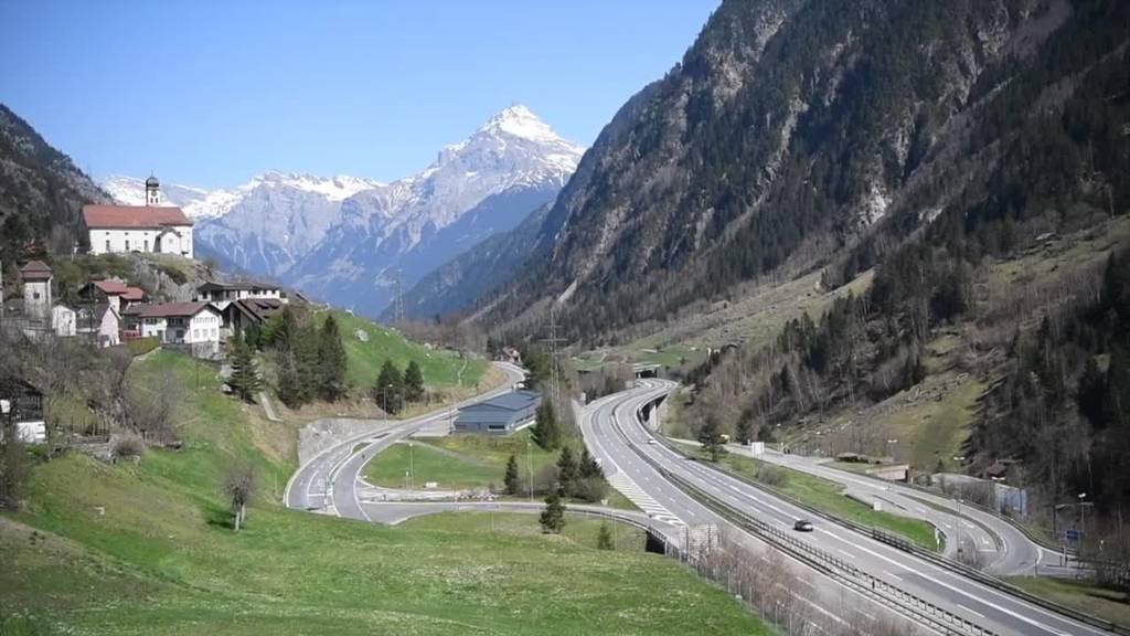 Kein Stau am Gotthard Richtung Süden