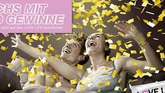 Fast eine halbe Million Kondome und Gewinnlose werden bis im Herbst als Begleitaktion der neuen Kampagne verteilt.