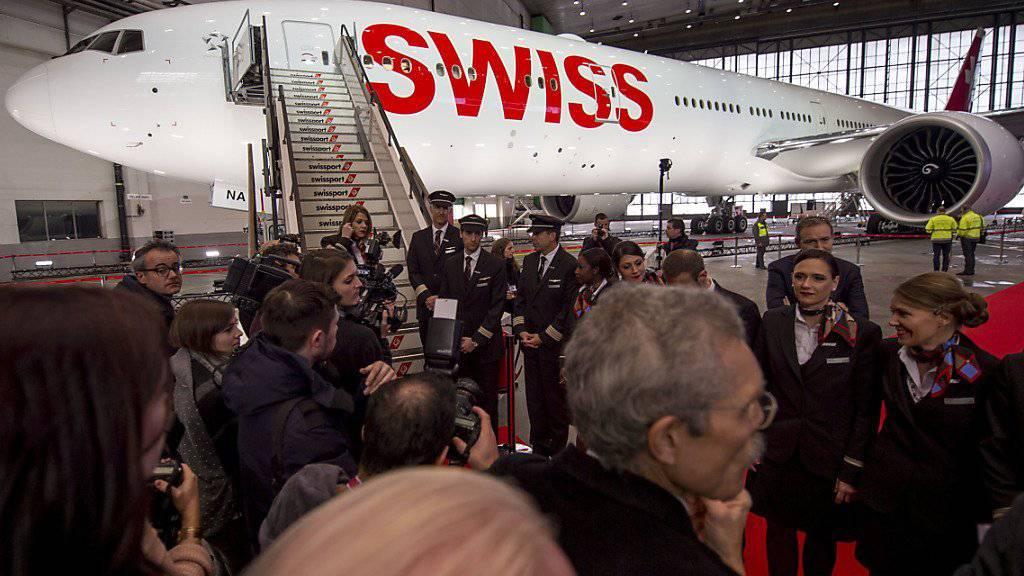 Das neue Langstrecken-Flaggschiff der Swiss: Die Airline bestellt eine zehnte Boeing 777-300ER. (Archivbild)