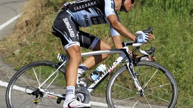 Alberto Contador Zweiter der 8. Giro-Etappe