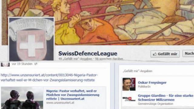 Ungefragt erscheinen Freysinger und andere auf der SDL-Facebook-Fanseite.