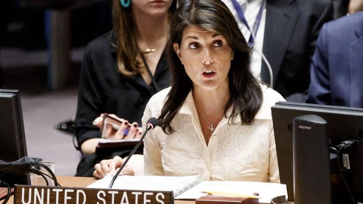 Die US-Botschafterin bei den Vereinten Nationen, Nikki Haley, sieht Russland in Syrien in der Pflicht. (Archivbild)