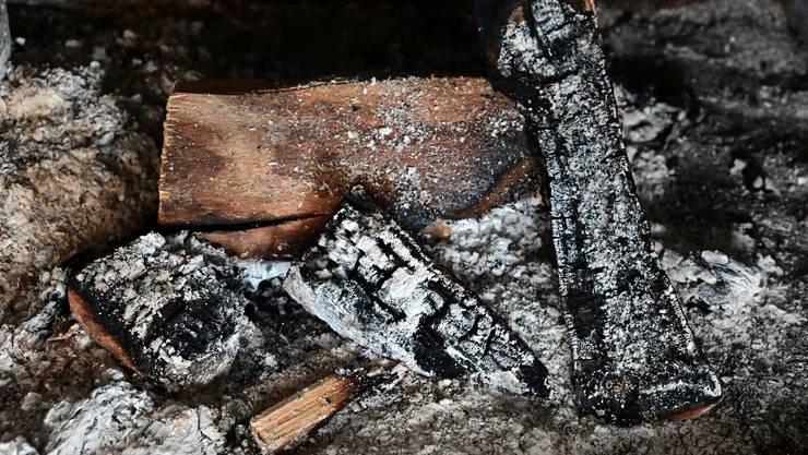 Überbleibsel vom gemütlichen Cheminéefeuer: Asche, Holzkohle und Holzreste. Was früher in Deponien gelagert werden konnte, soll künftig über den Hauskehricht in die KVA gelangen.