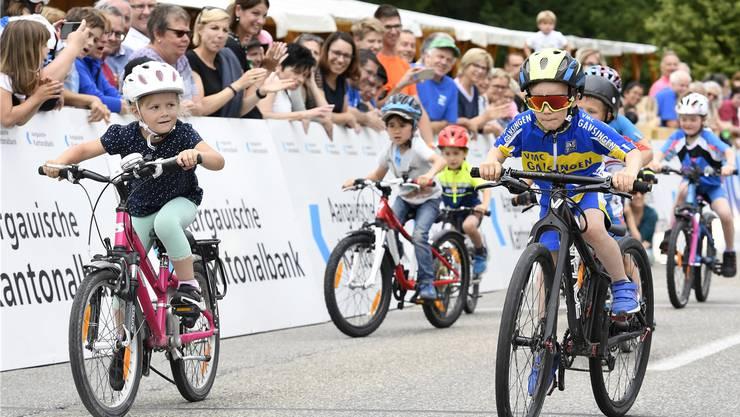 Start der Piccolos an den Gippinger Radsporttagen: Fand das Rennen am Wochenende zum letzten Mal statt? Alexander Wagner