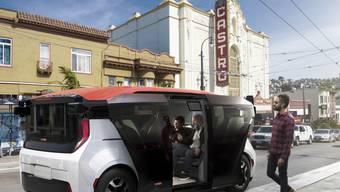 GM-Firma Cruise stellt Robotaxi-Fahrzeug vor. (Archiv)