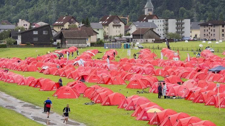 So sehen die Gigathlon-Zeltstädte aus.