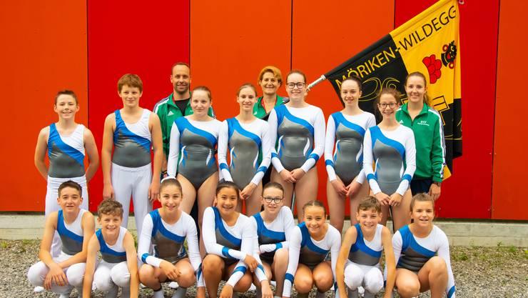 Alle Teilnehmer beim Jugendvereinsturnen Trampolin