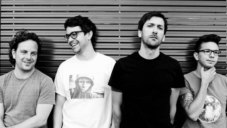 Marcel Suk (Bass), Tobias Suter (Schlagzeug), Roger Molnar (Vocals und Keyboard) und Djamal Moumene (Gitarre) sind New Polarities (v.l.). ZVG