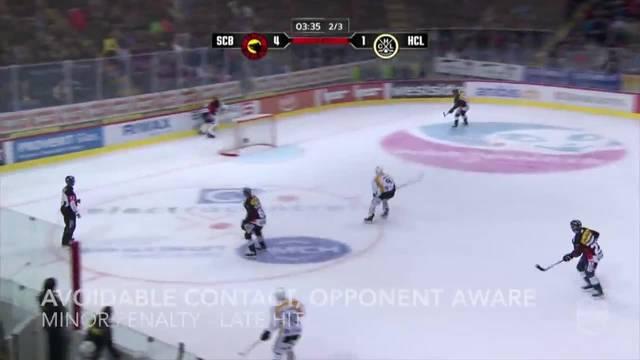 Eishockey-Regeln: Später Check