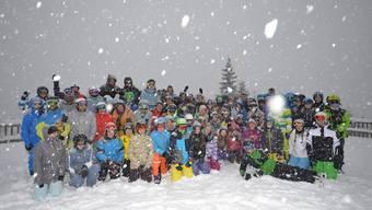Kein Schneemangel beim J+S-Lager der Solothurner Jugendlichen in den Flumserbergen.