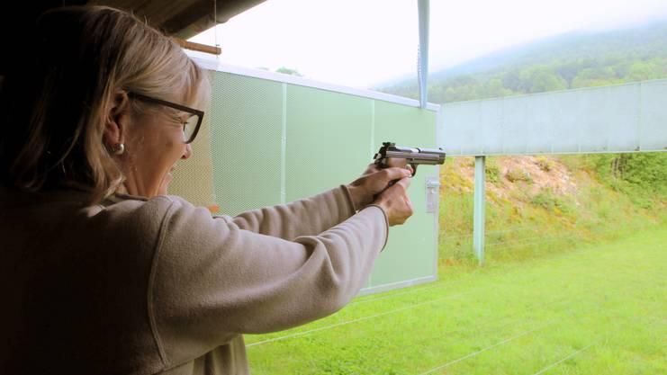 «Es ist das absolut erste Mal, dass ich mit einer Pistole schiesse», verriet die beim Feldschiessen anwesende Regierungsrätin Brigit Wyss.
