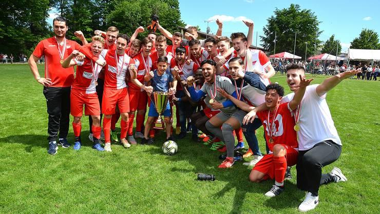 Die A-Junioren des FC Solothurn sind Solothurner Cupsieger 2019.
