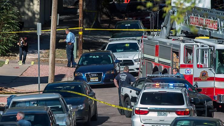 Spurensicherung nach der Schiesserei: In Colorado Springs sterben vier Menschen.