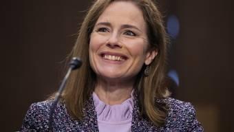Erhält viel Lob der Republikaner: Amy Coney Barrett während ihrer Anhörung vor dem US-Senat.