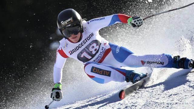 Lara Gut hielt im ersten Training in Méribel mit der Spitze mit