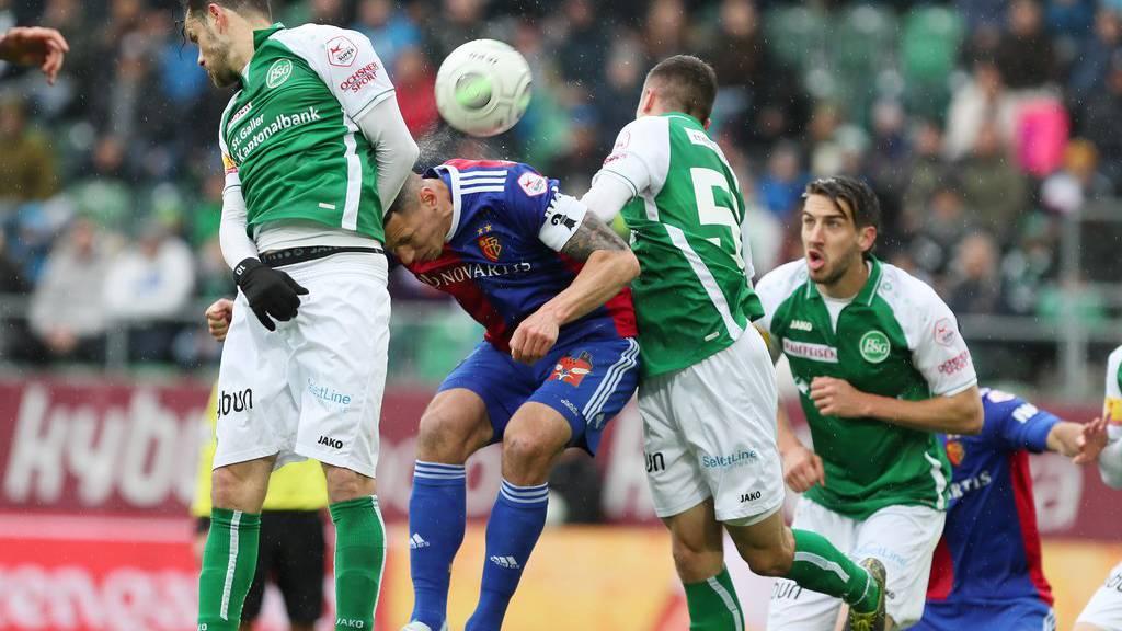 Die St.Galler hatten auch Pech gegen Basel.