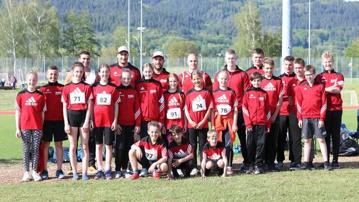 Die Athleten des STV Herznach an den Einkampfmeisterschaften in Stein