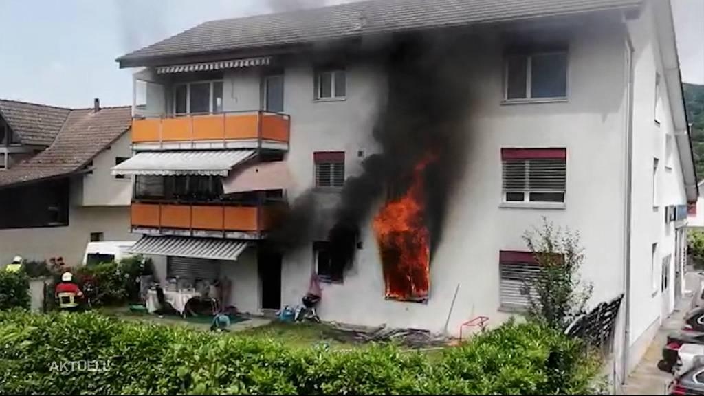 Brand in Aarau Rohr: Verursachte Zündeln das Feuer?