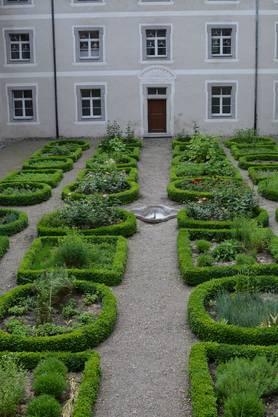 Der Kräutergarten des Klosters ist nur für die Schwestern zugänglich.