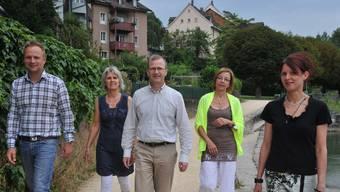 Team der Jugend- und Familienberatung in Laufenburg: Thorsten Rösen, Valerie Lingg Rohner, Donat Oberson, Doris Steinmann und Sandra Wey.