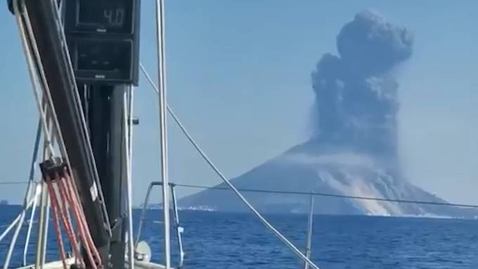 Stromboli-Ausbruch: Dieses Video zeigt den exakten Moment der Explosion