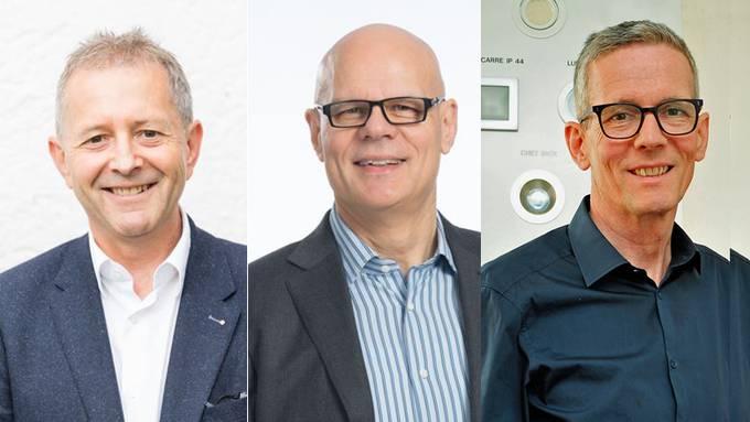 Kandidaten für das Amt des Gemeindeammanns:  Willy Wenger (Biberstein, neu), Urs Affolter (Buchs, bisher), Markus Bircher (Oberentfelden, neu). Sie alle haben keine Konkurrenten..