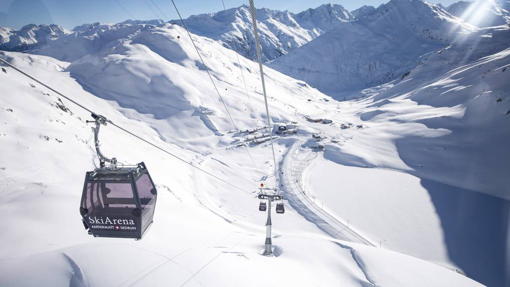 SkiArena Andermatt-Sedrun beschränkt Zahl der Gäste