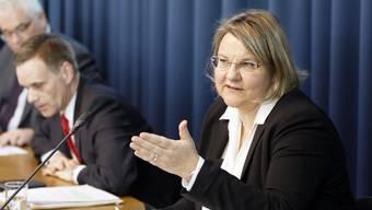 Kantonsärztin Yvonne Hummel an der Medieninformation des Gesundheitsdepartements am Freitag.