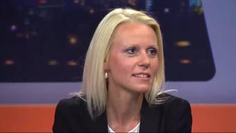 Lilian Studer, Irène Kälin und Ruth Humbel im zweiten Wahl-Talk auf «Tele M1».