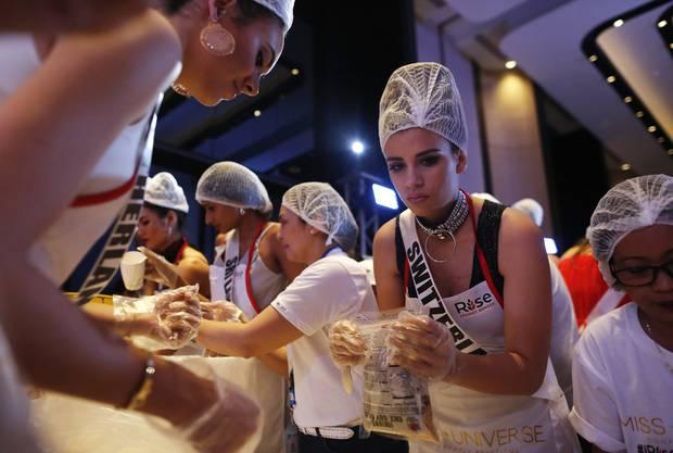 Die Schweizer Kandidatin Dijana Cvijetic bei einem Event im Süden Manilas.