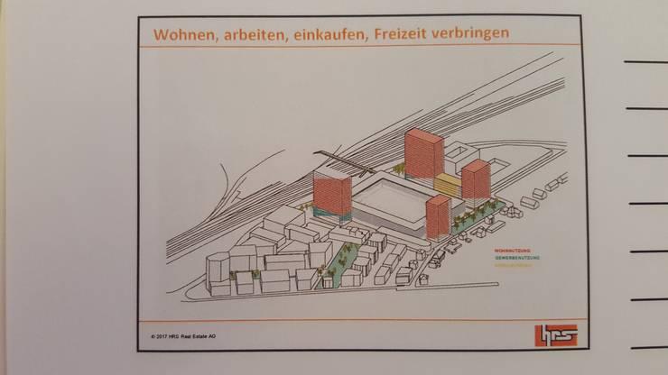 Die Einnahmen aus den vier geplanten Hochhäusern sollen das Stadion mitfinanzieren.