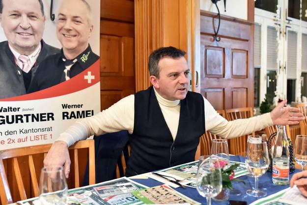 Seit den Anfängen vor 25 Jahren ist der 59-jährige Walter Wobmann Mitglied der kantonalen SVP.