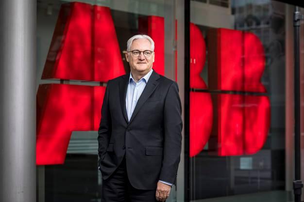 ABB-Verwaltungsratspräsident Peter Voser anlässlich des Interviews am Konzernsitz in Zürich-Oerlikon.