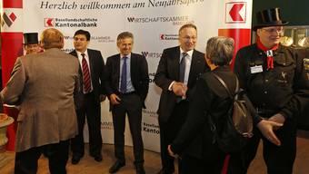 Von links Christoph Buser, Direktor WKBL, Beat Oberlin, Präsident BLKB und Andreas Schneider, Präsident WKBL