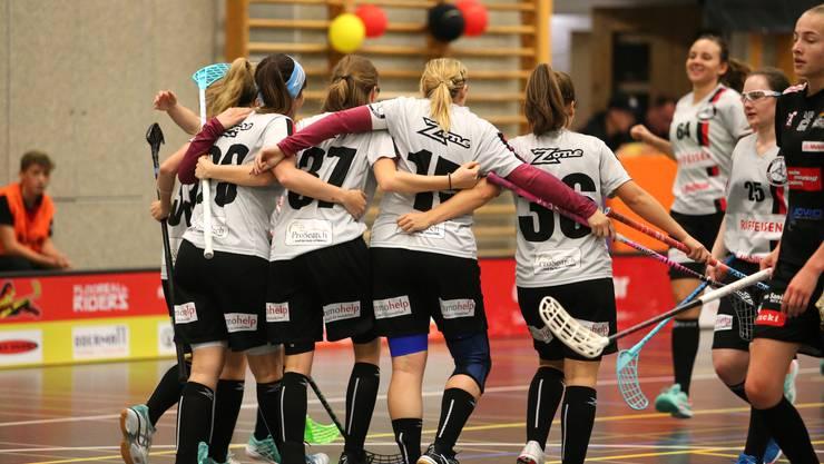Jubel bei Unihockey Basel Regio (Quelle: TOPpictures)