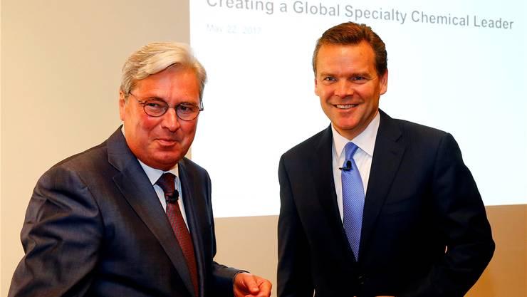 Bei der Ankündigung der Fusion war für Clariant-Chef Hariolf Kottmann und Peter Huntsman noch alles in Ordnung. Arnd Wiegmann/Reuters