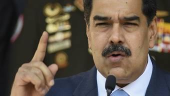 Ihn will der Iran unbedingt an der Macht halten - und riskiert dafür einen Konflikt mit den USA: Venezuelas Machthaber Nicolas Maduro.