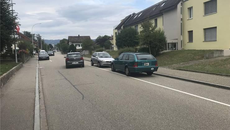 Anwohner der Steinligasse monieren, dass LKWs die Quartierstrasse bei der Zu- und Wegfahrt zur Industrie nutzen. nbo
