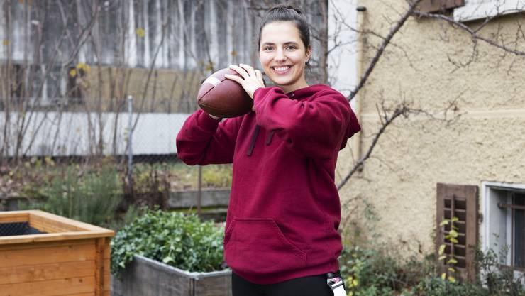 Xenia Burkard hofft, dass die Flag-Football-Liga in der Schweiz weiterwächst..