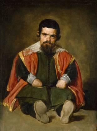 Velázquez Bildnis des Hofnarren Don Sebastián de Morra aus dem Pradio trifft auf ...