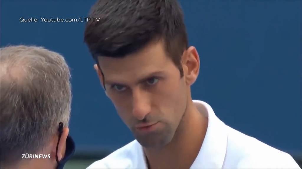 US-Open enden für Novak Djokovic mit einem Eklat