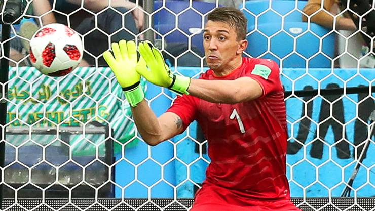 Uruguay-Goalie Fernando Muslera ist für das 2:0 der Franzosen verantwortlich.